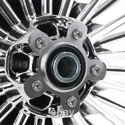 21 18'' Fat Spoke Front Rear Cast Wheel Single Disc Dyna Softail Touring Glide