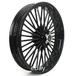 21 18'' Fat Spoke Front Rear Cast Wheels Single Disc for Dyna Softail Touring