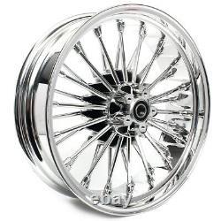 21 18 Front Rear Cast Wheels Dual Disc Fat Spokes Electra Glide Dyna Softail
