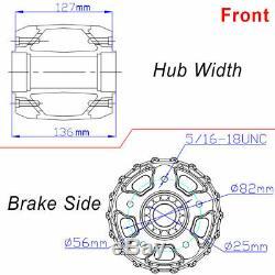 21 & 18 Front Rear Cast Wheels Single Disc Fat King Spoke Softail Touring Dyna