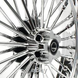 21 18 Front Rear Cast Wheels Single Disc Fat Spokes 4 Dyna Wide Glide Softail