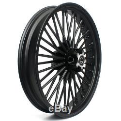 21/18 Front Rear Cast Wheels Single Disc Fat Spokes Touring Softail Sportster