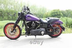21 18 Front & Rear Red Cast Wheel Set 36 Fat King Spoke Dyna Sportster Softail