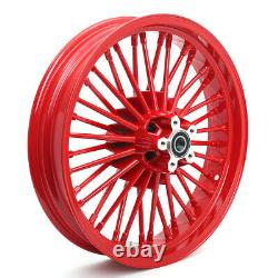 21 18 Front Rear Wheels Dual Disc Fat Spoke for Sportster Touring Softail Dyna