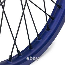 21&19 Front Rear Spoke Wheel Set for YAMAHA YZF250 YZF450 YZ250F YZ450F 14-19