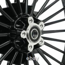 21 2.15 Front 16 3.5 Rear Fat Spoke Tubless Wheels Rims Set for Dyna Softail