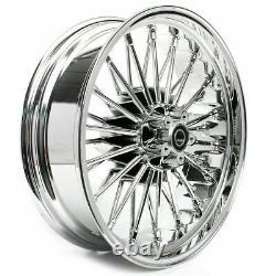 21 Front & 18 Rear Cast Wheels Single Disc Fat King Spoke Softail Touring Dyna