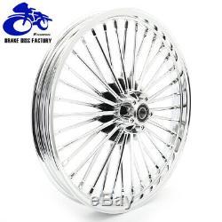 21 x 2.15 18 x 3.5 Chrome Fat Spoke Front Rear Wheel Rim Dyna Softail Touring