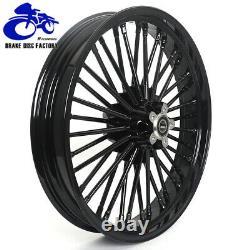 21 x 3.5 & 18 x 3.5 Fat Spoke Tubeless Wheel Rim Set for Harley Dyna Softail