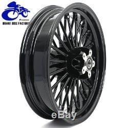 21x3.5 & 16x3.5 Fat Spoke Front Rear Tubeless Wheel Rim Softail Dyna Black