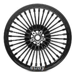 21x3.5 18x3.5 Fat Spoke Wheel Rims Set for Harley Touring Bagger Road King Glide
