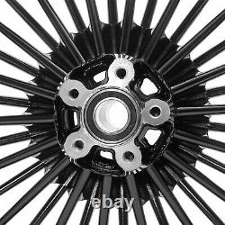 21x3.5 18x3.5 Fat Spoke Wheels Rims Set for Harley Touring Bagger Electra Glide