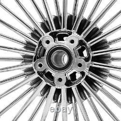 21x3.5 18x3.5 Fat Spoke Wheels Rims Single Disc for Harley Fat Boy FLSTF 2000-17