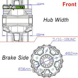 21x3.5 18x3.5 Front Rear Wheels Rim Fat Spoke For Harley Softail Dyna Street Bob
