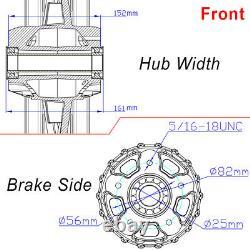 21x3.5 18x5.5 Fat Spoke Front Rear Cast Wheels Single Disc Softail Fatboy FLSTF