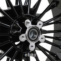 21x3.5 18x5.5 Fat Spoke Front Rear Wheels Rims Reducers Dyna Street Bob FXDB