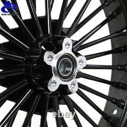 21x3.5 18x5.5 Fat Spoke Front Rear Wheels Rims Reducers Softail FLST FXST