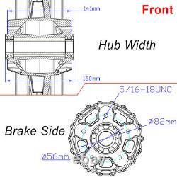 21x3.5 18x5.5 Fat Spoke Wheels Rim Single Disc for Harley Softail Fat Boy Deluxe
