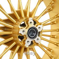 21x3.5 18x5.5 Fat Spoke Wheels Rims for Harley Bagger Road King Glide 2000-2007