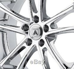 22 Asanti Wheels Rims Chrome Lip 5x127 Lexani Forgiato