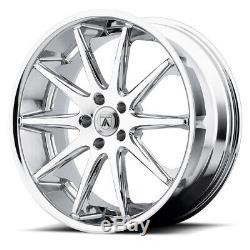 22 Chrome Wheels Rims Asanti Set 4 5x115 Multi Spoke