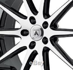22 Staggered Camaro Wheels Rims Black Chrome Asanti