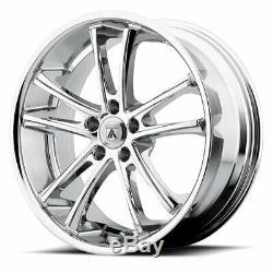 22 Staggered Camaro Wheels Rims Chrome 5x120 Ss Rs Ls Lt Zl1 Le Asanti