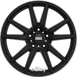 22 Staggered Wheels Rims 5x120 Matte Black