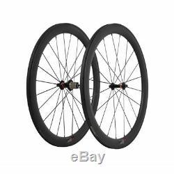 25mm 50mm Carbon Clincher Wheel 700C Novatec 3k Matt Road Bike Aero Spokes