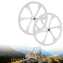 26NEW BICYCLE WHEEL SET MAG 6-SPOKE MTB BIKE 7,8,9,10 SPEED WITH QR Front&Rear