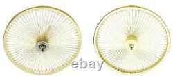 26 Rear & Front Beach Cruiser Lowrider 144 spokes wheels Coaster brake Gold