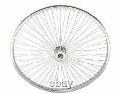 26 x 1.75 Bicycle Wheelset Front/Rear 68 Spokes Coaster Brake silver
