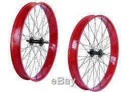 29 x 4.0 Rear & Front Fat Wheels 7 speed 36 spokes Disc Brake Polish