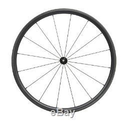 30mm Bicycle wheels Carbon rim spoke hubs matt rim 700C Road Clincher Tubeless