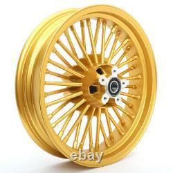 36 Fat Spoke 21X3.5 16X3.5 Wheels Set For Harley Dyna FXDWG Heritage Softail