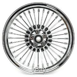 36 Fat Spoke Wheel 21X3.5 16X3.5 Chrome For Harley Dyna Heritage Softail Deluxe