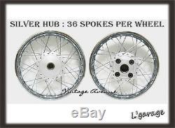 386-newhonda Cb100 Cl100 Cl100s Front18-rear18 Wheel Rim+hub+spoke F9s+r7s