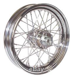40 Spoke 16 Chr Front Rear Wheel Harley Shovelhead Ironhead 1973/1984