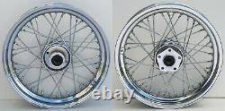 40 Spoke 16 Front/rear Wheel Set Harley Softail Flst Heritage Flstf Fat Boy