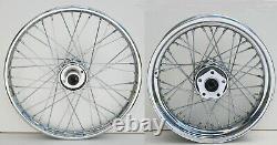 40 Spoke 21 Front 16 Rear Wheel Set Harley Softail Fxst Dyna Wide Glide 84-99