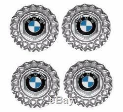 4 BMW OEM Cross Spoke Wheel Center Caps E28 E30 E34 318 325 M3 M5 3764