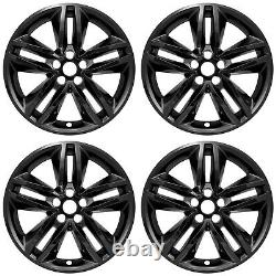 4 Black 18 Wheel Skins Hub Caps Covers Simulators for 2015-2018 Ford Edge SEL