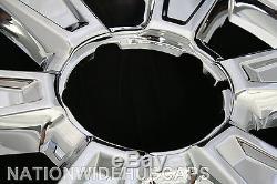 4 CHROME 2010-2013 GMC TERRAIN 17 Wheel Skins & Center Hub Caps New Rim Covers