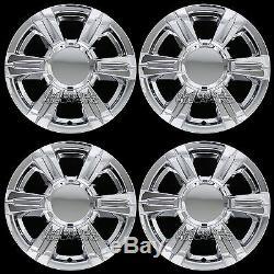 4 CHROME 2014-2016 GMC TERRAIN 17 Wheel Skins Full Rim Covers Center Hub Caps