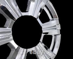 4 CHROME 2016 2017 GMC TERRAIN 18 Wheel Skins Rim Covers Hub Caps Simulators