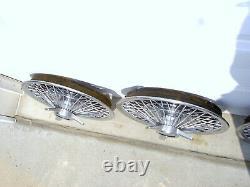 4 Chevrolet 1964 1965 1966 Impala Chevelle Nova Oem 14 Wire Spoke Hubcaps