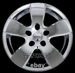 4 Chrome 20 Wheel Skins fit Dodge RAM 1500 2009-12 Hub Caps 5 Spoke Rim Covers