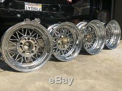 (4) Hot Rod 30 Spoke Cragar Wire Wheels Front 14x6 Rear 15x7 Staggered Clean