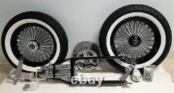 4 Under Black Springer Forks, GMA Brakes, Front End Kit, 150 Tires King-Spoke Rims