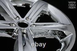 4 fit Dodge Challenger 2014-2017 Chrome 20 Wheel Skins Hub Caps Full Rim Covers